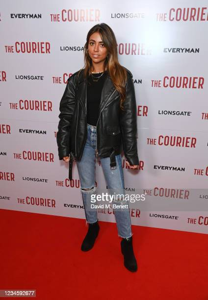 """Ruby Adler attends a gala screening of """"The Courier"""" at The Everyman Broadgate on August 9, 2021 in London, England."""