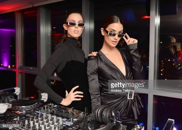 Ruby Aldridge and Lily Aldridge attend the Alain Mikli x Alexandre Vauthier Launch Party on April 5 2018 in New York City
