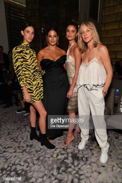Ruby Aldridge Ashley Graham Taylor Hill and Cecilia Bonstrom attend Daily Front Row's Fashion Media Awards on September 6 2018 in New York City