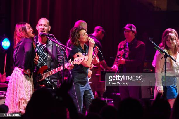 Ruby Amanfu Phil Hanseroth Brandi Carlile and Courtney Marie Andrews perform at City Winery Nashville on September 23 2018 in Nashville Tennessee