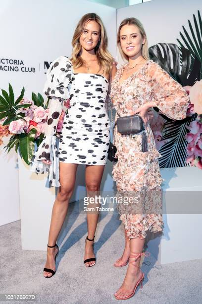 Ruby and Lucy Brownless attend the 2018 Myer Spring Fashion Lunch at Flemington Racecourse on September 12 2018 in Melbourne Australia