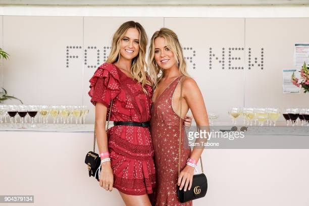 Ruby and Lucy Brownless attends Portsea Polo on January 13 2018 in Melbourne Australia