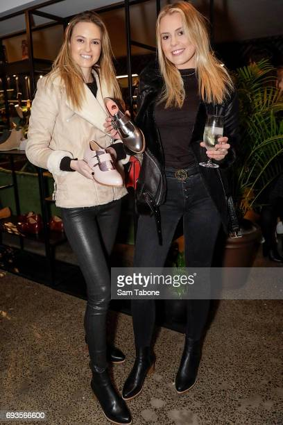 Ruby and Lucy Brownless attends the Bared Footwear VIP Launch Party on June 7 2017 in Melbourne Australia