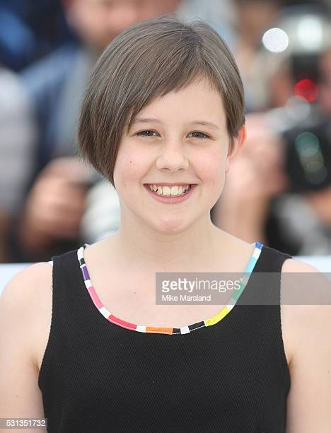 """Ruby Barnhill attends the """"The BFG """" photocall during the 69th Annual Cannes Film Festival on May 14, 2016 in Cannes, France"""