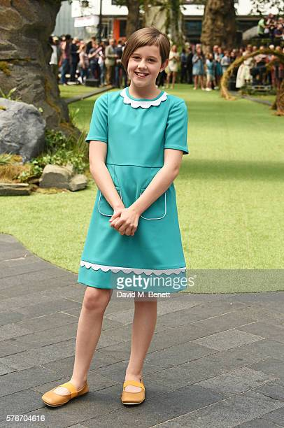 "Ruby Barnhill attends the UK Premiere of ""The BFG"" at Odeon Leicester Square on July 17, 2016 in London, England."