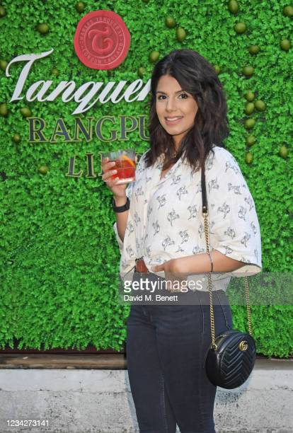 Ruby Bhogal attends the launch of the Tanqueray Gin Summer Garden at Flat Iron Square on July 28, 2021 in London, England.