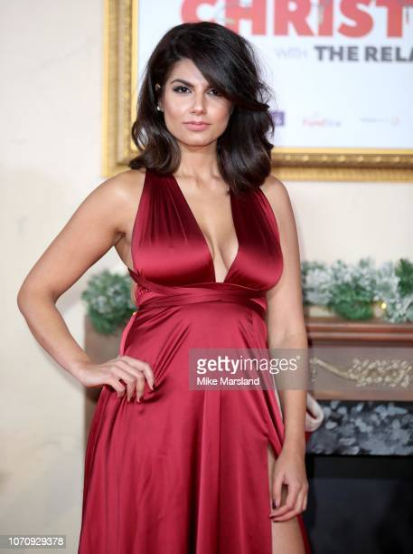 Ruby Bhogal attends the World Premiere of Surviving Christmas With The Relatives at Vue West End on November 21 2018 in London England