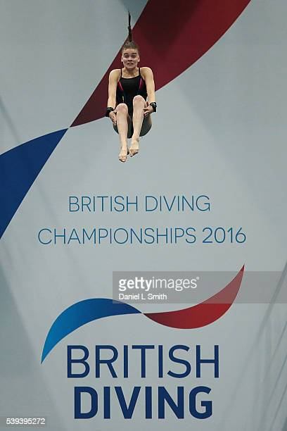 Ruby Bower competes in the Women's 10m Preliminary during day two of the British Diving Championships 2016 at Ponds Forge on June 11 2016 in...