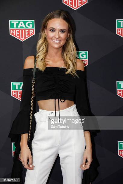 Ruby Brownless attends the TAG Heuer Grand Prix Party on March 20 2018 in Melbourne Australia