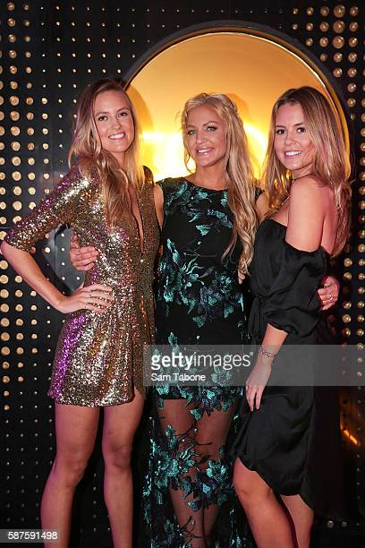 Ruby Brownless Brynne Edelsten and Lucy Brownless Attend The Fashion Aid launch at The Bond Bar on August 9 2016 in Melbourne Australia