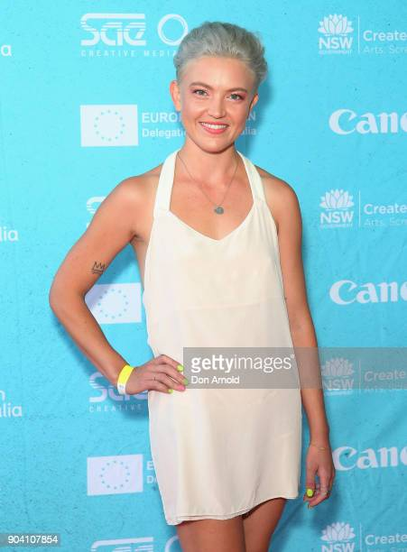 Ruby Challenger attends the Flickerfest International Short Film Festival Opening Night at Bondi Beach on January 12 2018 in Sydney Australia