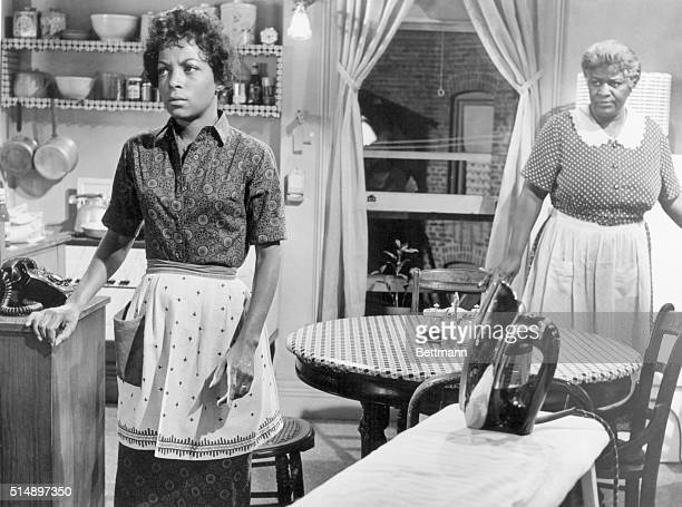 Ruby Dee and Claudia McNeil are shown in the movie 'A Raisin in the Sun' They are shown in a scene that takes place in a kitchen Movie released in...