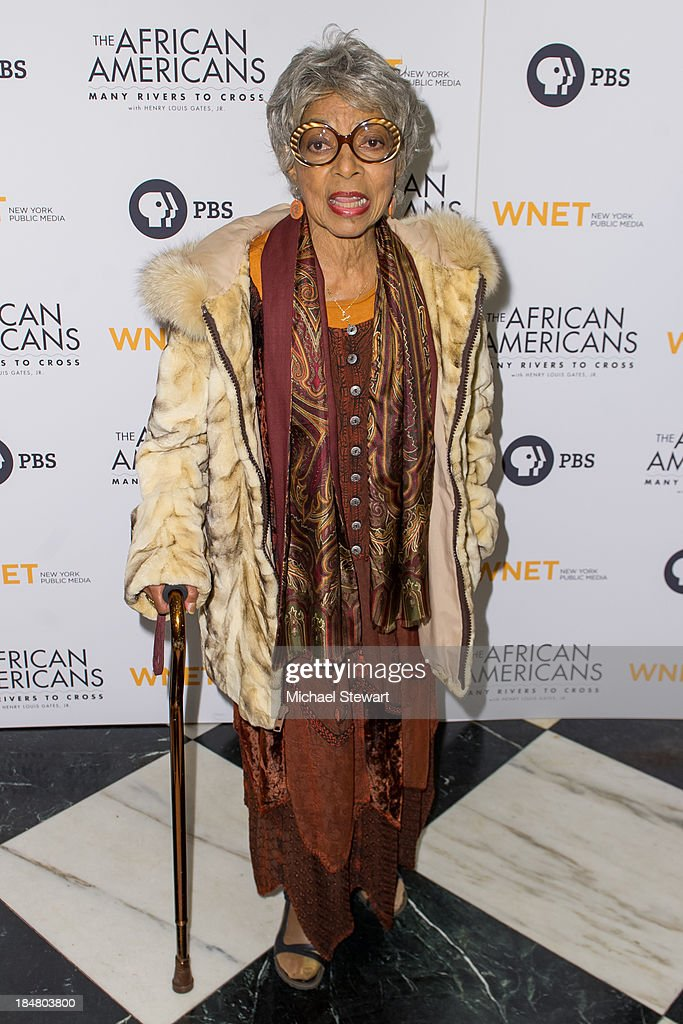 Ruby Dee attends the 'The African Americans: Many Rivers to Cross' screening at The Paris Theatre on October 16, 2013 in New York City.
