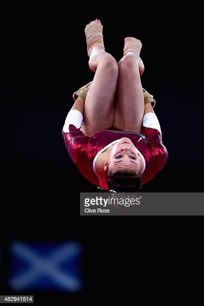 Ruby Harold of England in action during the Women's AllAround Final at the SECC Precinct during day seven of the Glasgow 2014 Commonwealth Games on...
