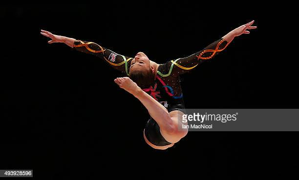 Ruby Harrold of Great Britain competes on the Beam during Day One of the 2015 World Artistic Gymnastics Championships at The SSE Hydro on October 23...