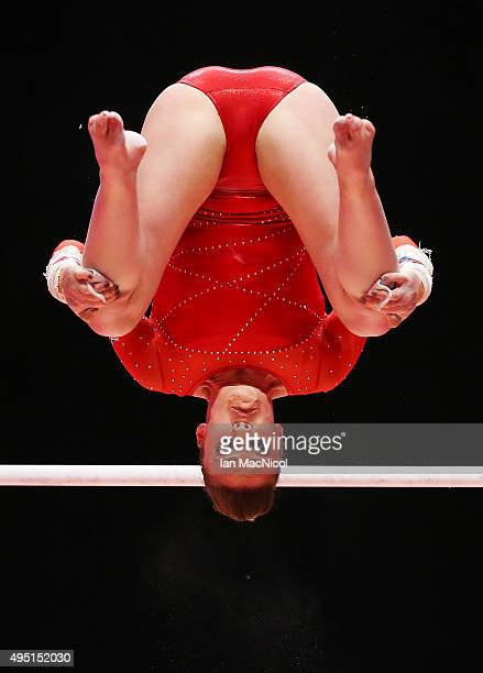 Ruby Harrold of Great Britain competes on the Uneven Bars during day nine of World Artistic Gymnastics Championships at The SSE Hydro on October 31...