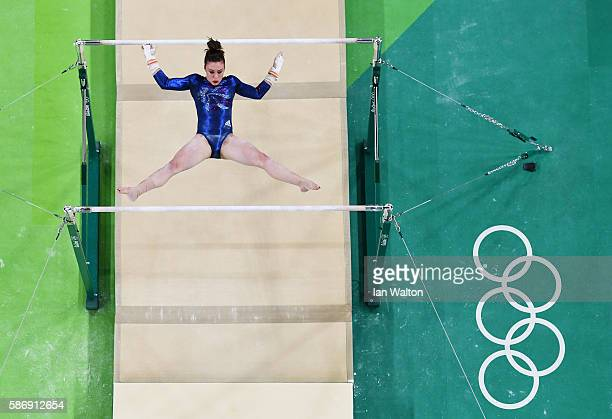 Ruby Harrold of Great Britain competes on the uneven bars during Women's qualification for Artistic Gymnastics on Day 2 of the Rio 2016 Olympic Games...