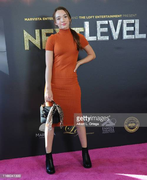 Ruby Jay arrives for the Premiere Of MarVista Entertainment's Next Level held at Regency Bruin Theatre on September 4 2019 in Los Angeles California