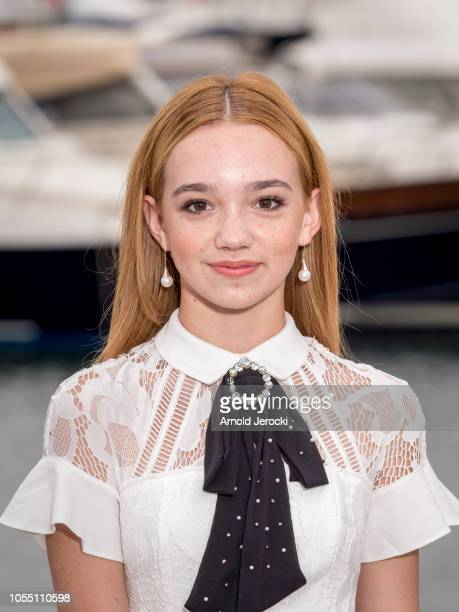 Ruby Jay attend the Holly Hobbie photocall as part of the MIPCOM 2018 on October 15 2018 in Cannes France