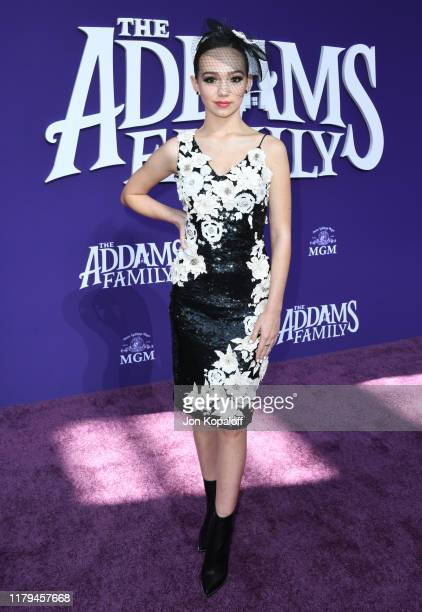 Ruby Jay attends the premiere of MGM's The Addams Family at Westfield Century City AMC on October 06 2019 in Los Angeles California