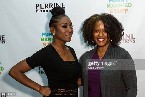 Ruby Jewel and Actress T'Keyah Crystal Keymah arrive for the Screening Of Perrine Productions' 'Funny Married Stuff' at the ACME Comedy Theatre on...