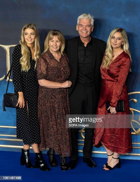 Ruby Lowe Stephanie Lowe Phillip Schofield and Molly Lowe are seen attending the UK Premiere of the 'Fantastic Beasts The Crimes Of Grindelwald' at...