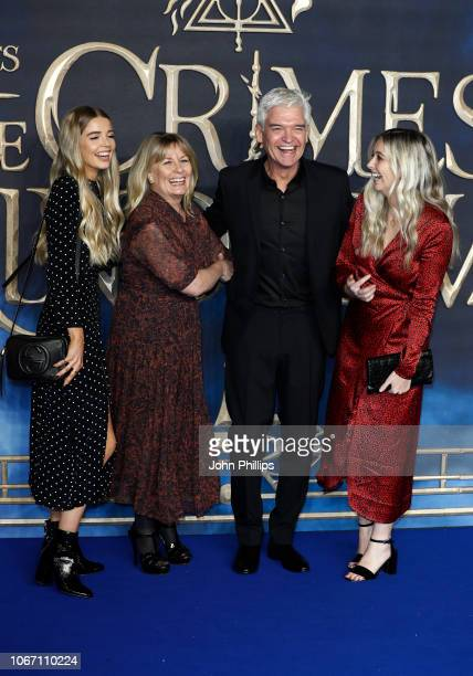 Ruby Lowe Stephanie Lowe Phillip Schofield and Molly Lowe attend the UK Premiere of Fantastic Beasts The Crimes Of Grindelwald at Cineworld Leicester...