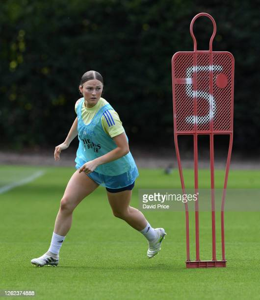 Ruby Mace of Arsenal during the Arsenal Women training session at Arsenal Academy on July 29 2020 in Walthamstow England