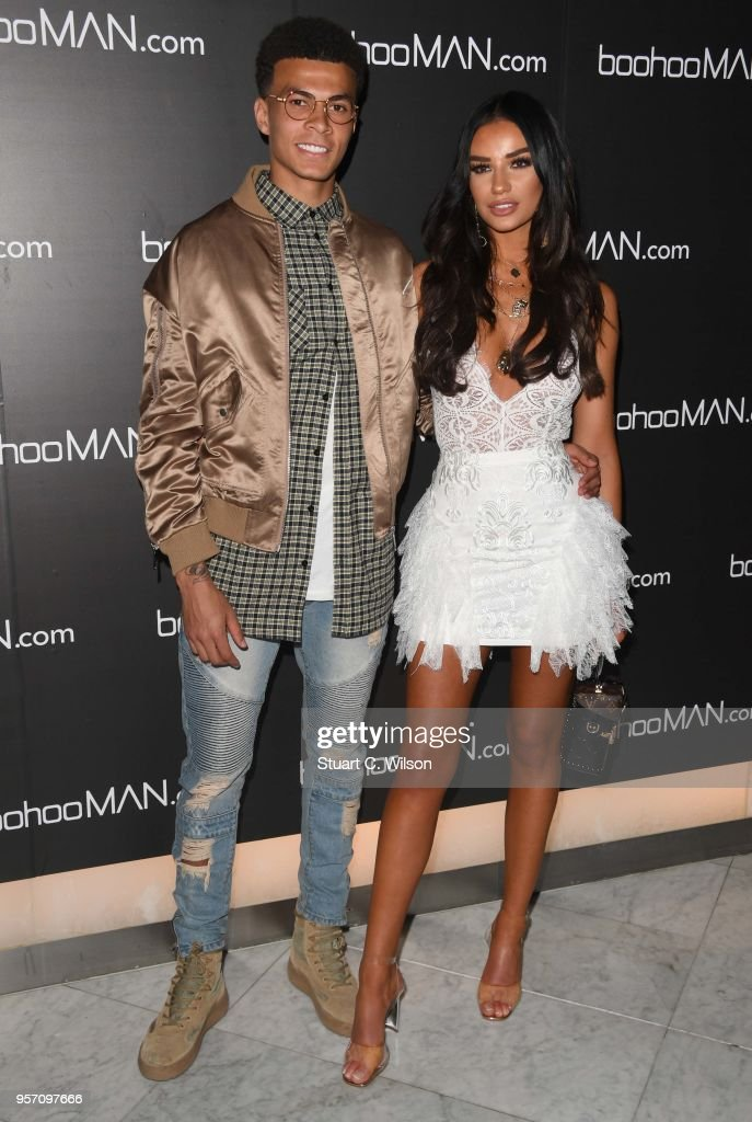 Ruby May and Dele Alli attend the boohooMAN by Dele Alli VIP launch at ME London on May 10, 2018 in London, England.