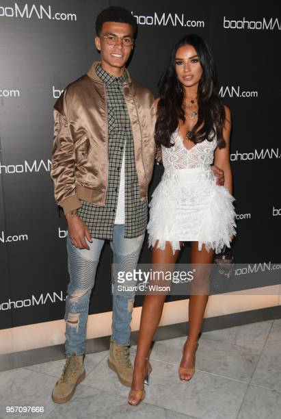 Ruby May and Dele Alli attend the boohooMAN by Dele Alli VIP launch at ME London on May 10 2018 in London England