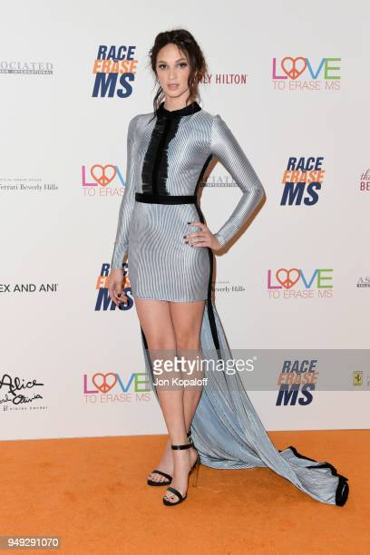 Ruby Modine attends the 25th Annual Race To Erase MS Gala at The Beverly Hilton Hotel on April 20 2018 in Beverly Hills California