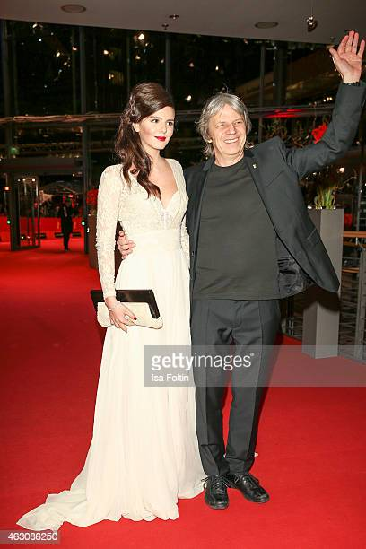 Ruby O. Fee and Andreas Dresen attend the 'As We Were Dreaming' premiere during the 65th Berlinale International Film Festival at Berlinale Palace on...
