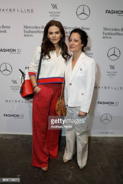 Ruby O Fee and guest attend the 'Designer for Tomorrow' show during the MercedesBenz Fashion Week Berlin Spring/Summer 2018 at Kaufhaus Jandorf on...