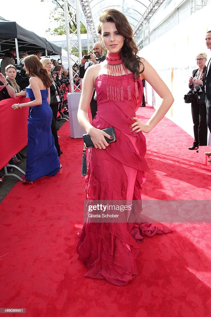 Andrea Schelling Couture) attends the Lola - German Film Award 2014 at Tempodrom on May 9, 2014 in Berlin, Germany