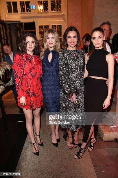 """Ruby O Fee, Zsa Zsa Inci Buerkle, Nadine Warmuth and Lisa Tomaschewsky attend the Berlin Opening Night by Bertelsmann Content Alliance at hotel """"Das..."""