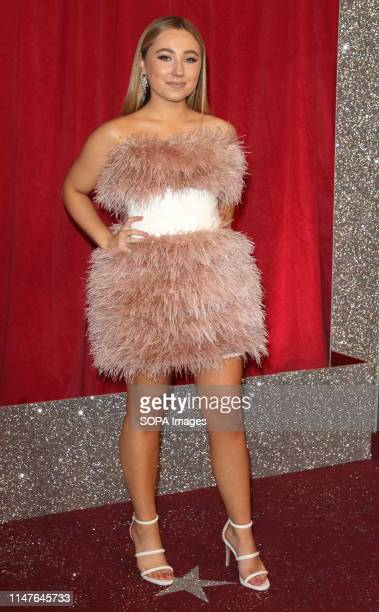 Ruby O'Donnell arrives on the red carpet during The British Soap Awards 2019 at The Lowry, Media City, Salford in Manchester.