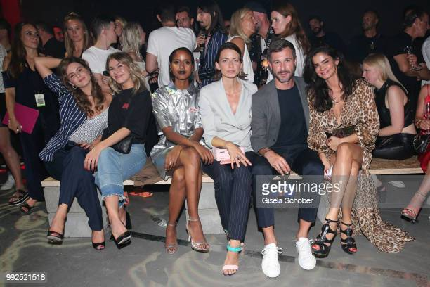 Ruby O'Fee Zsa Zsa Inca Buerkle Sara Nuru Eva Padberg Jochen Schropp Shermine Shahrivar attend the HUGO show during the Berlin Fashion Week...