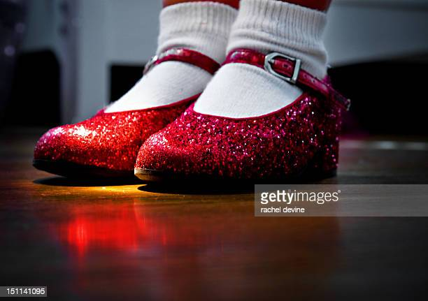 Ruby red sparkle shoes