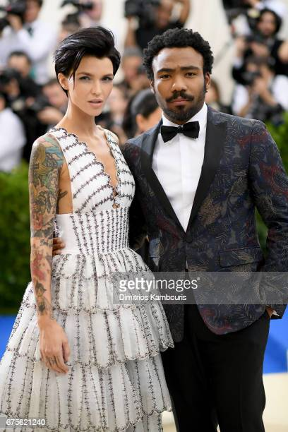 Ruby Rose and Donald Glover attend the Rei Kawakubo/Comme des Garcons Art Of The InBetween Costume Institute Gala at Metropolitan Museum of Art on...