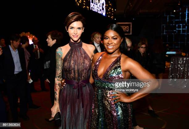 Ruby Rose and Ester Dean attend the after party for the premiere of Universal Pictures' Pitch Perfect 3 on December 12 2017 in Hollywood California