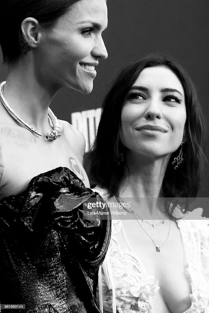 Ruby Rose and Jess Origliasso arrive ahead of the Australian Premiere of Pitch Perfect 3 on November 29, 2017 in Sydney, Australia.