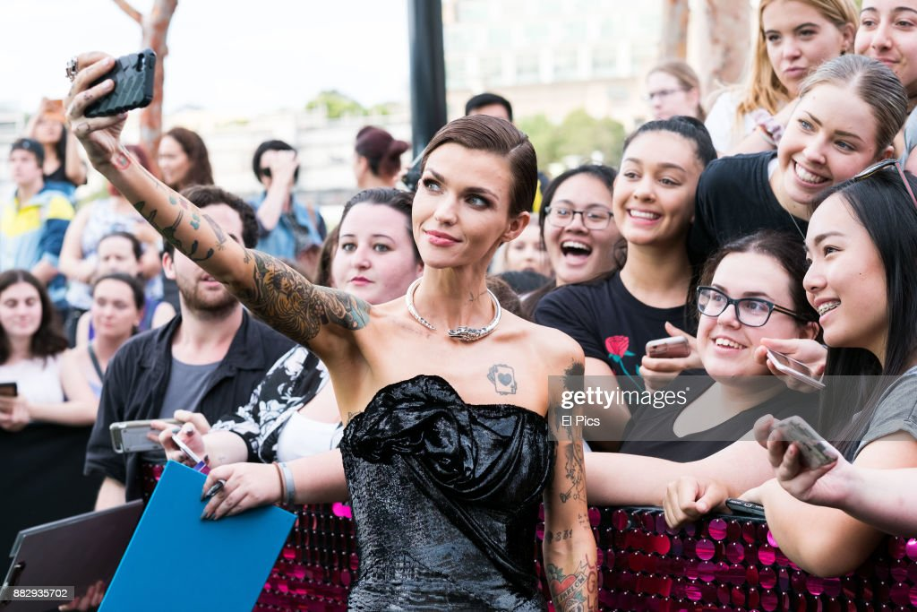 The bellas are back ruby rose arrives ahead of the australian premiere of pitch perfect 3 on november 29 voltagebd Choice Image