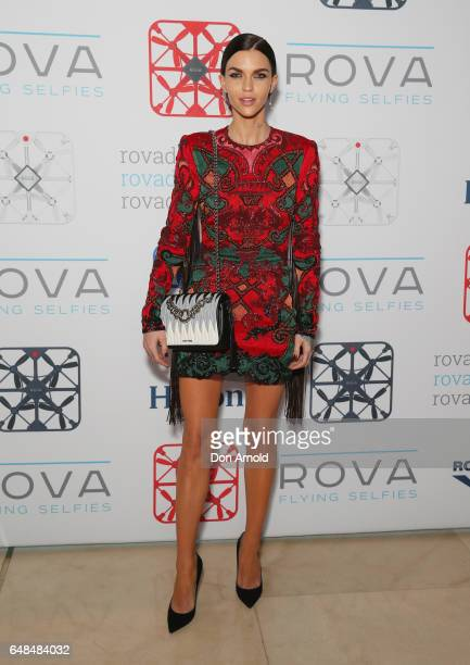 Ruby Rose arrives ahead of the ROVA Flying Selfie Camera Launch at Hilton Brasserie on March 6 2017 in Sydney Australia