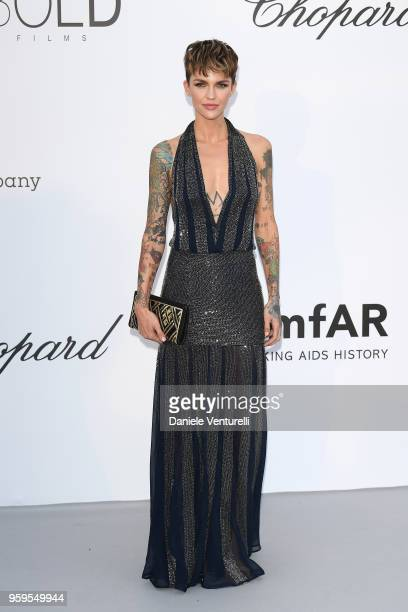 Ruby Rose arrives at the amfAR Gala Cannes 2018 at Hotel du CapEdenRoc on May 17 2018 in Cap d'Antibes France