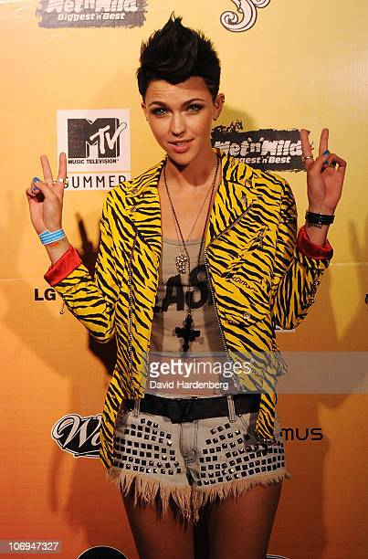 Ruby Rose arrives at the MTV Summer Party at Wet N Wild on November 18 2010 in Brisbane Australia