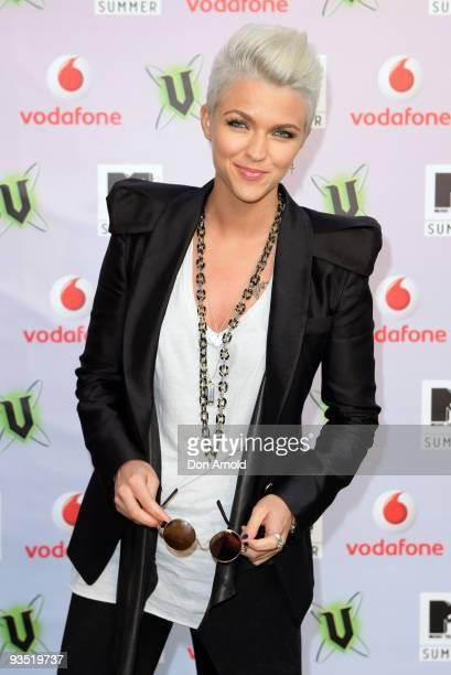 Ruby Rose arrives for the 2009 MTV Summer Party at the Hyde Park Barracks on December 1 2009 in Sydney Australia