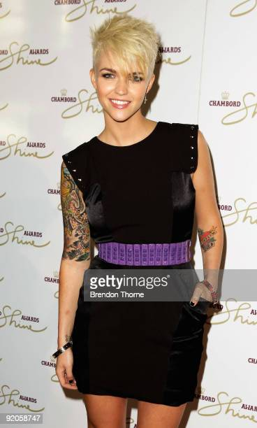 Ruby Rose arrives for the Chambord Shine Awards 2009 at the Blue Hotel on October 20 2009 in Sydney Australia