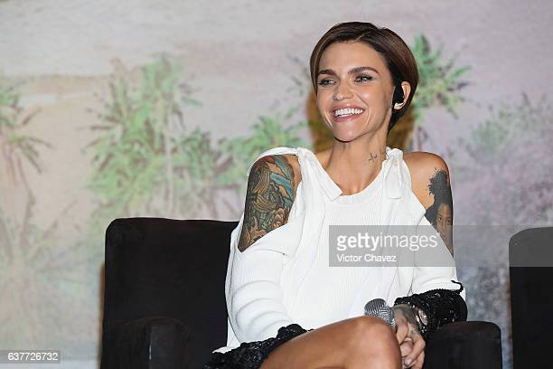 """Ruby Rose attends a press conference to promote the Paramount Pictures film """"xXx: Return of Xander Cage"""" at St. Regis Hotel on January 5, 2017 in..."""