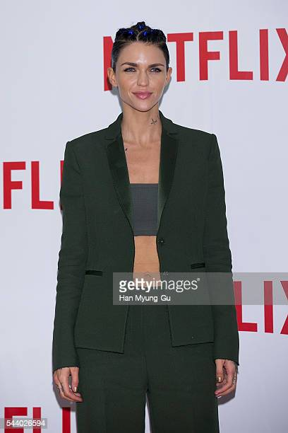 Ruby Rose attends the '2016 Netflix Night In Seoul' at DDP on June 30 2016 in Seoul South Korea