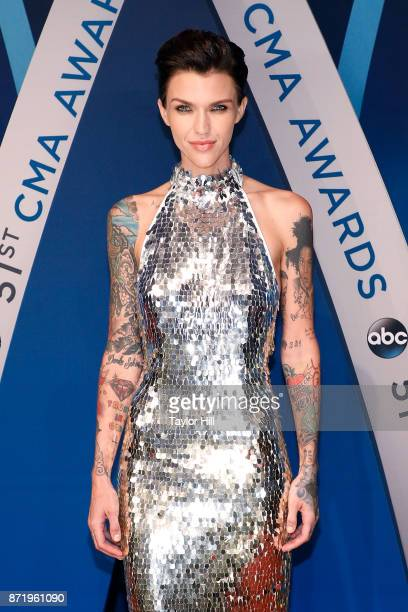 Ruby Rose attends the 51st annual CMA Awards at the Bridgestone Arena on November 8 2017 in Nashville Tennessee
